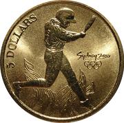 5 Dollars - Elizabeth II (Softball) -  reverse