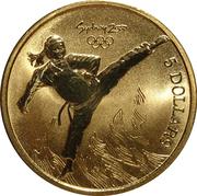 5 Dollars - Elizabeth II (Taekwondo) -  reverse