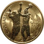 5 Dollars - Elizabeth II (4th Portrait - Handball) -  reverse