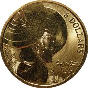 5 Dollars - Elizabeth II (Weightlifting) -  reverse