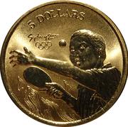 5 Dollars - Elizabeth II (4th Portrait - Table Tennis) -  reverse