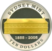 10 Dollars - Elizabeth II (4th Portrait - Sydney Mint - Sovereign Sesquicentenary) -  reverse