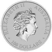 100 Dollars - Elizabeth II (4th Portrait - Platypus - Platinum Bullion Coin) -  obverse
