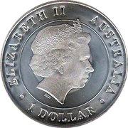 1 Dollar - Elizabeth II (4th Portrait - Australian Kangaroo) -  obverse
