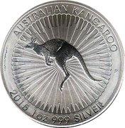 1 Dollar - Elizabeth II (4th Portrait - Australian Kangaroo) -  reverse