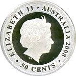50 Cents - Elizabeth II (Proclamation Shilling Tribute) -  obverse