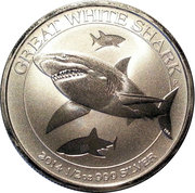 50 Cents - Elizabeth II (4th Portrait - Great White Shark) -  reverse