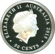 50 Cents - Elizabeth II (Australian Kookaburra) – obverse