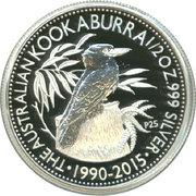 50 Cents - Elizabeth II (Australian Kookaburra) – reverse