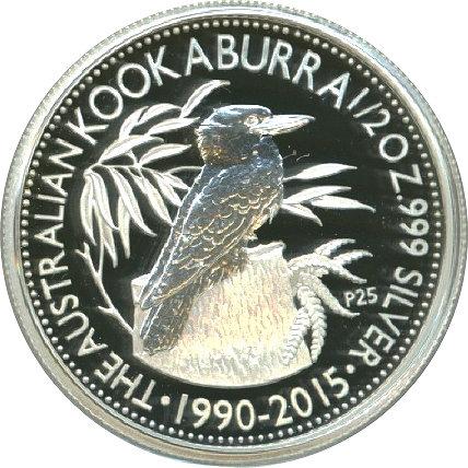 Australia 2015 Kookaburra Beijing Coin Show P25 25th Anniv 50 Cents Silver Proof