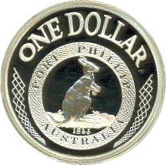 1 Dollar - Elizabeth II (Port Phillip Patterns) -  reverse