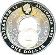 1 Dollar - Elizabeth II (4th Portrait - Holey Dollar and Dump) -  obverse