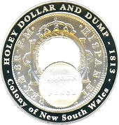 1 Dollar - Elizabeth II (Holey Dollar and Dump) -  reverse