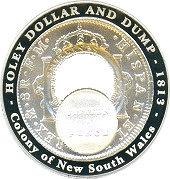 1 Dollar - Elizabeth II (4th Portrait - Holey Dollar and Dump) -  reverse