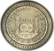 1 Dollar - Elizabeth II (Pillar Dollar) -  reverse
