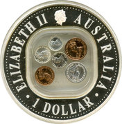 1 Dollar - Elizabeth II (40th Anniversary End of Pre-Decimal Coinage) -  obverse