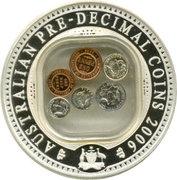 1 Dollar - Elizabeth II (40th Anniversary End of Pre-Decimal Coinage) -  reverse