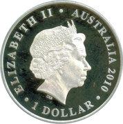 1 Dollar - Elizabeth II (4th portrait; Lachlan Macquarie Governor of NSW) -  obverse