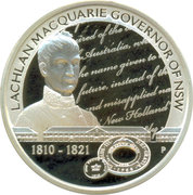 1 Dollar - Elizabeth II (4th portrait; Lachlan Macquarie Governor of NSW) -  reverse