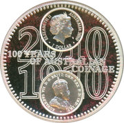 1 Dollar - Elizabeth II (4th portrait; 100th Anniversary of Australian Coinage) -  obverse
