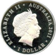 1 Dollar - Elizabeth II (100th Anniversary of Australian Commonwealth Bronze Coinage) -  obverse