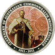 1 Dollar - Elizabeth II (100th Anniversary of Australian Commonwealth Bronze Coinage) -  reverse
