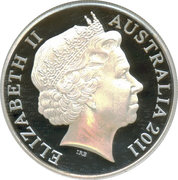 1 Dollar - Elizabeth II (VOC Zuttdorp Shipwreck) -  obverse
