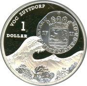 1 Dollar - Elizabeth II (VOC Zuttdorp Shipwreck) -  reverse