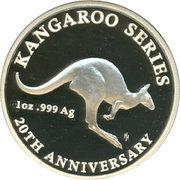 1 Dollar - Elizabeth II (20th Anniversary Kangaroo Series) -  reverse
