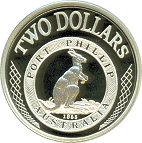 2 Dollars - Elizabeth II (4th Portrait - Port Phillip Patterns - Masterpieces in Silver) -  reverse