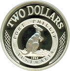 2 Dollars - Elizabeth II (Port Phillip Patterns) -  reverse