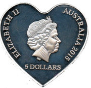 5 Dollars - Elizabeth II (Eternal Love) -  obverse