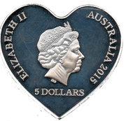 5 Dollars - Elizabeth II (4th Portrait - Eternal Love - Silver Proof) -  obverse