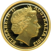 10 Dollars - Elizabeth II (4th Portrait - Wheat Sheaf Dollar - Gold Proof) -  obverse