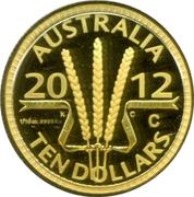 10 Dollars - Elizabeth II (4th Portrait - Wheat Sheaf Dollar) Gold Proof -  reverse