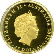 25 Dollars - Elizabeth II (4th Portrait - Diamond Jubilee - Gold Proof) -  obverse
