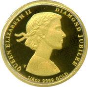 25 Dollars - Elizabeth II (4th Portrait - Diamond Jubilee - Gold Proof) -  reverse
