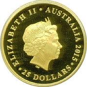 25 Dollars - Elizabeth II (First Australian Sovereign) -  obverse