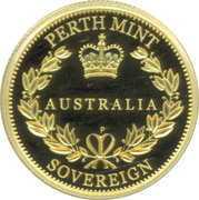 25 Dollars - Elizabeth II (First Australian Sovereign) -  reverse