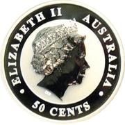 50 Cents - Elizabeth II (4th Potrait - Koala - Silver Bullion Coin) -  obverse