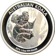 50 Cents - Elizabeth II (4th Potrait - Koala - Silver Bullion Coin) -  reverse