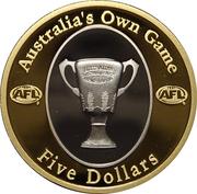 5 Dollars - Elizabeth II (AFL - Australia's Own Game) -  reverse