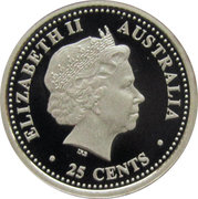 25 Cents - Elizabeth II (FIFA World Cup 2006) -  obverse