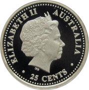 25 Cents - Elizabeth II (FIFA World Cup 2006) -  obverse