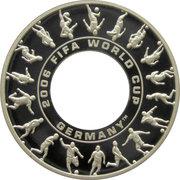 1 Dollar - Elizabeth II (4th Portrait - FIFA World Cup 2006 - Silver Proof) -  reverse