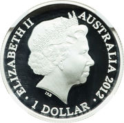 1 Dollar - Elizabeth II (Kangaroo at Sunset) -  obverse