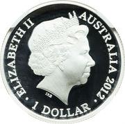 1 Dollar - Elizabeth II (Kangaroo at Sunset) -  obverse