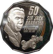 50 Cents - Elizabeth II (Sir Jack Brabham) -  reverse