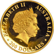 200 Dollars - Elizabeth II (4th Portrait - Wedge-tailed Eagle - Gold Bullion Coin) -  obverse