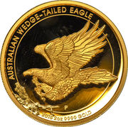 200 Dollars - Elizabeth II (4th Portrait - Wedge-tailed Eagle - Gold Bullion Coin) -  reverse